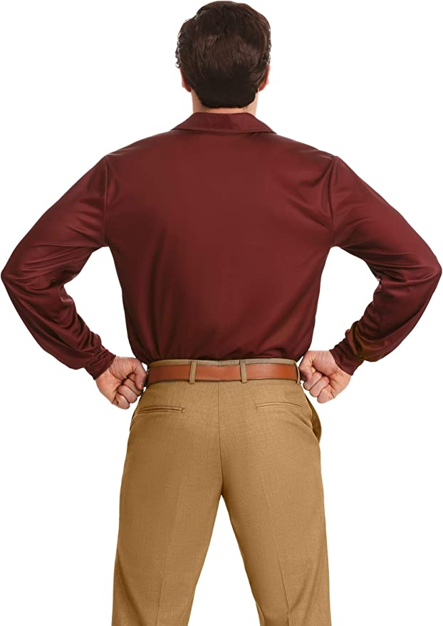 Ron Swanson Fancy Dress Costume Parks and Recreation Large