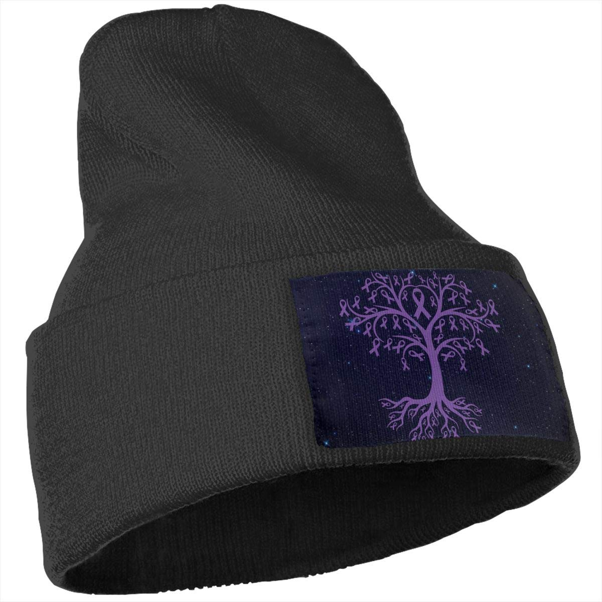Stretchy /& Soft Winter Ski Skull Caps Leiomyosarcoma Cancer Awareness Tree Roots Women Men Solid Color Knit Beanie Hat
