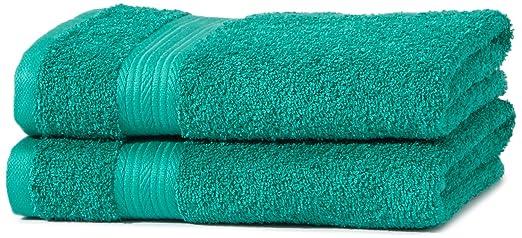 176 opinioni per AmazonBasics- Set di 2 asciugamani per le mani che non sbiadiscono, colore Verde
