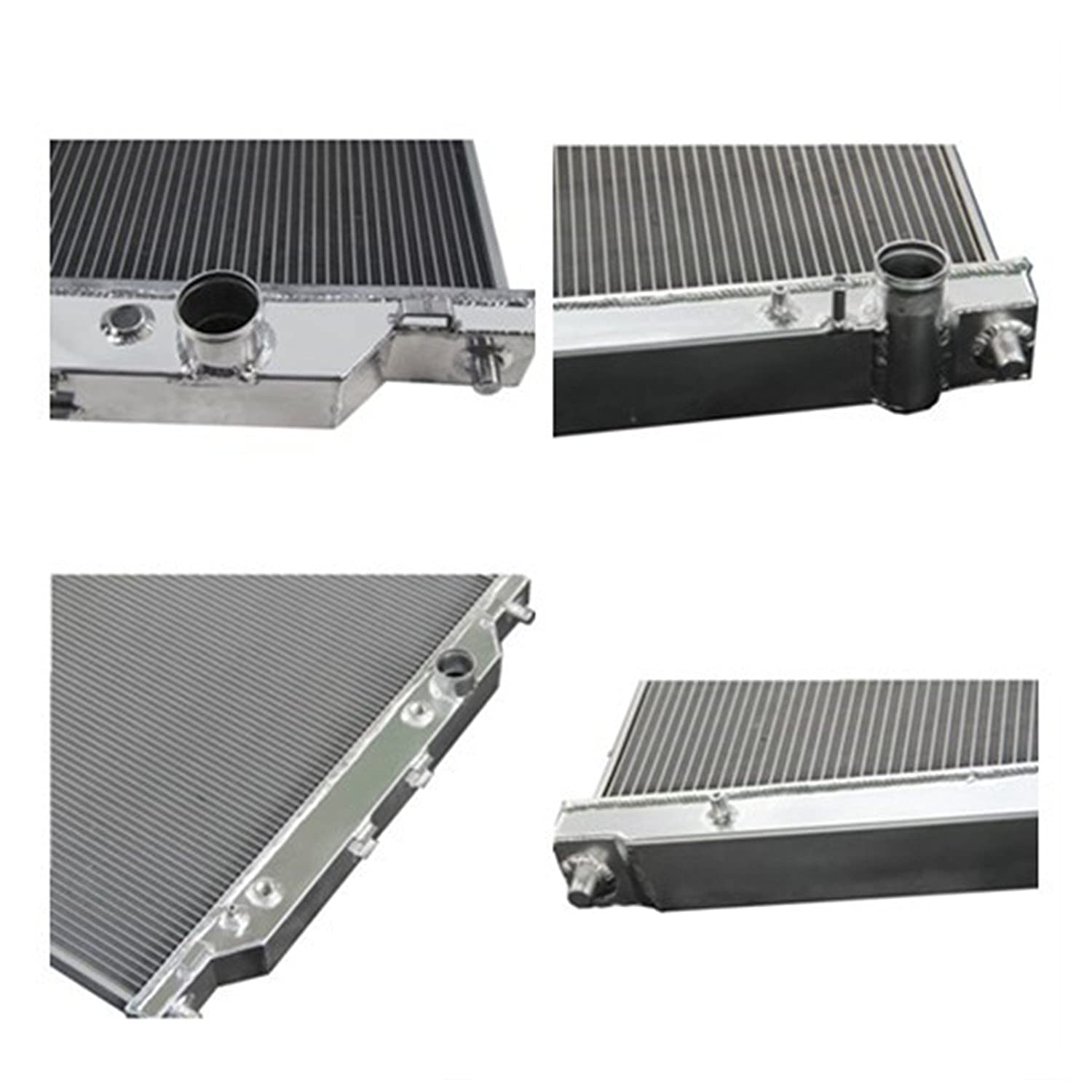 6.0L Turbo Diesel Powerstroke Engine 2 Row Dual-Core Aluminum Radiator for Ford F250 //F350 //Excursion 2003-07