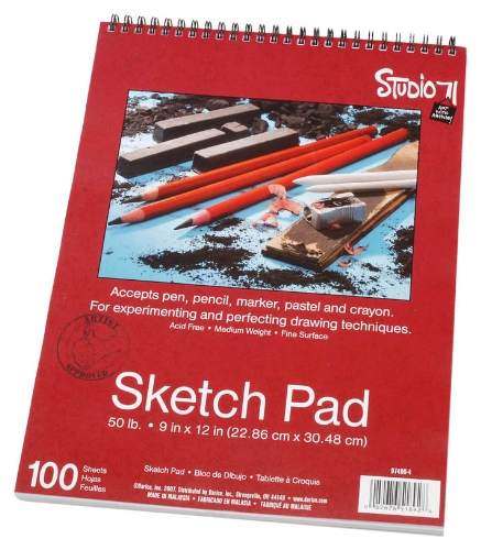 Price comparison product image Darice 9-Inch-by-12-Inch Top Spiral Bound Sketch Pad,  100-Sheets