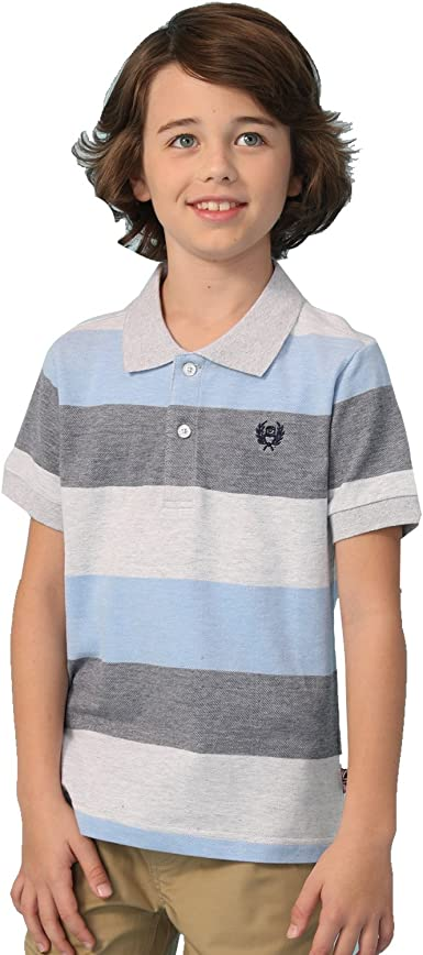 Leo/&Lily Boys Kids Casual Sport Cardigan Printed Polo Shirts