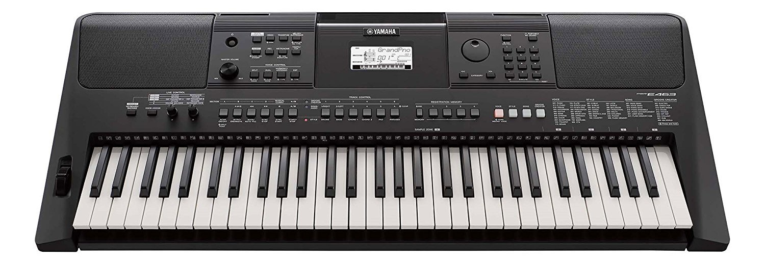 Yamaha PSRE463 61-Key Portable Keyboard (Black) product image