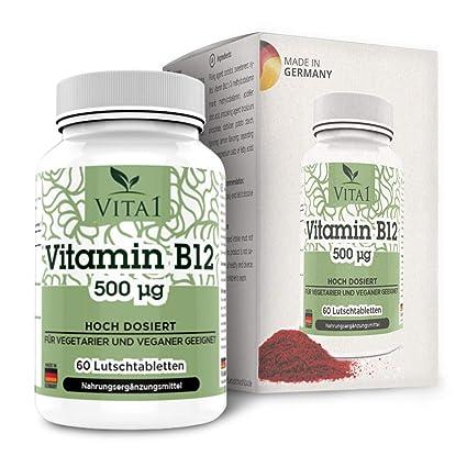 Pastillas de Vitamina B12 Cobalamina 500µg de VITA1 • 60 pastillas (2 meses de suministro