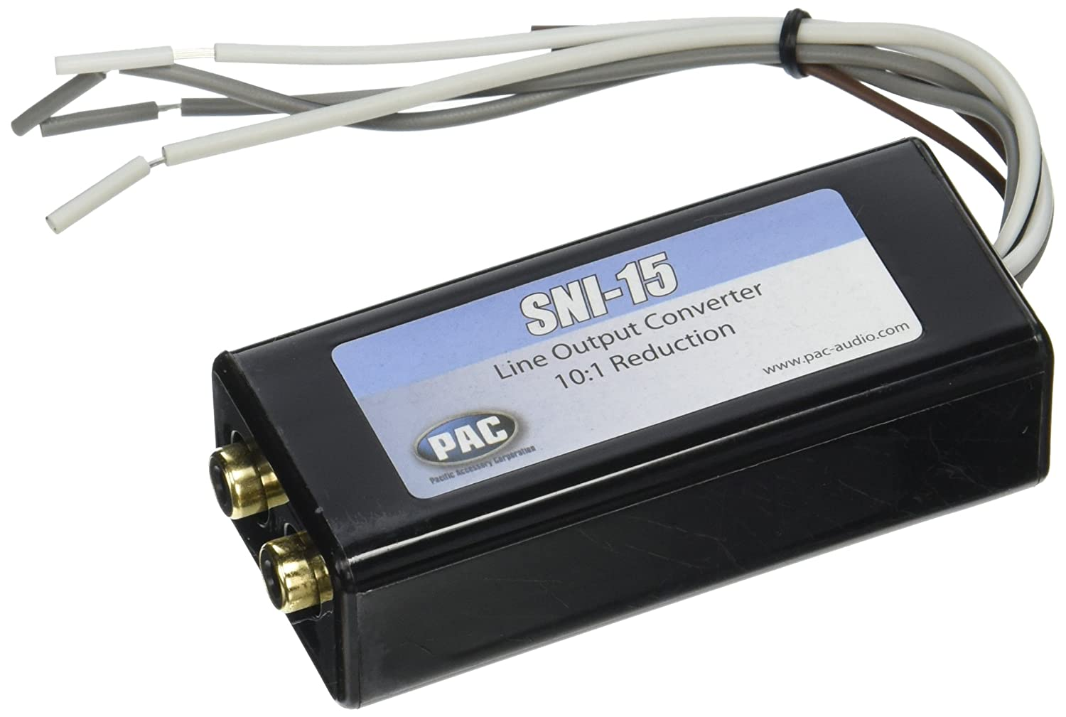 71UQXrYWczL._SL1500_ amazon com pac sni15 line output converter for adding amplifier Line Out Converter Wiring Common Ground at fashall.co