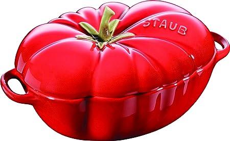 Vermelho Cocotte pimento pequena de cer/âmica da Staub