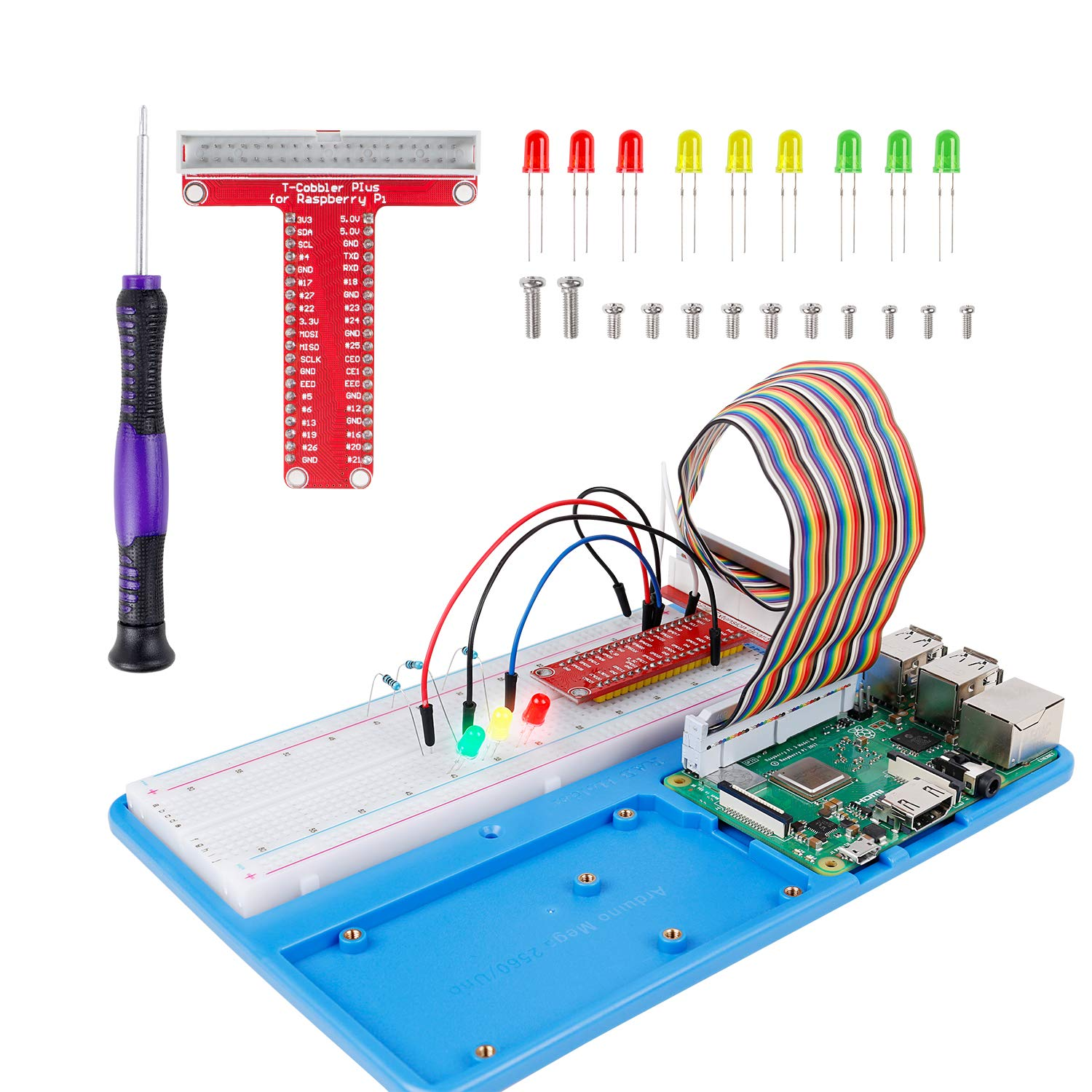 Sunfounder Raspberry Pi Rab Holder Breadboard Kit With 830 Points The B Circuit Board Solderless