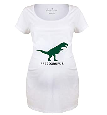 429d935aaf941 SuperPraise Pregosaurus Dinosaur Pregnant Women Mom to be Expecting Preggy Maternity  T Shirt Matenity T Shirt - S to 3XL: Amazon.co.uk: Clothing