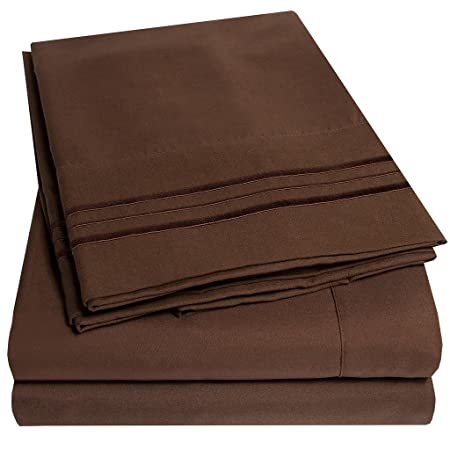 Review 1500 Supreme Collection Bed Sheets - 4 Piece Bed Sheet Set Deep Pocket HIGHEST QUALITY & LOWEST PRICE, SINCE 2012 - Wrinkle Free Hypoallergenic Bedding - All Sizes, 23 Colors - Full, Brown