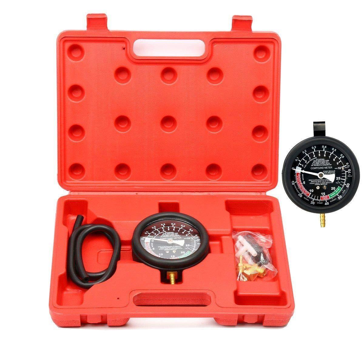 BSTOOL Carburetor Valve Fuel Pump Pressure & Vacuum Tester Gauge Test Kit Car Truck