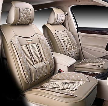 Icegirl Universal Needlework Front Rear Car Seat Cushion Cover For Toyota Camry Corolla 4Runner Harrier