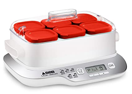 Seb Yg660100 Yaourtiere Multi Delices Express 6 Pots 600w Rouge Et
