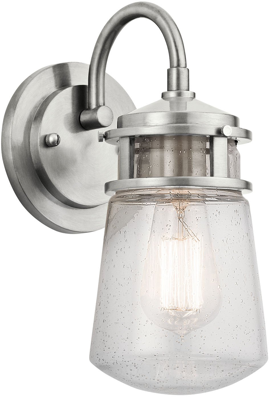 Kichler Lighting 49444AZ Lyndon 1 Light 11 Inch Outdoor Wall Lantern   Architectural Bronze Finish with Clear Seedy Glass   Wall Porch Lights    Amazon comKichler Lighting 49444AZ Lyndon 1 Light 11 Inch Outdoor Wall  . Kichler Lighting Outdoor Sconce. Home Design Ideas