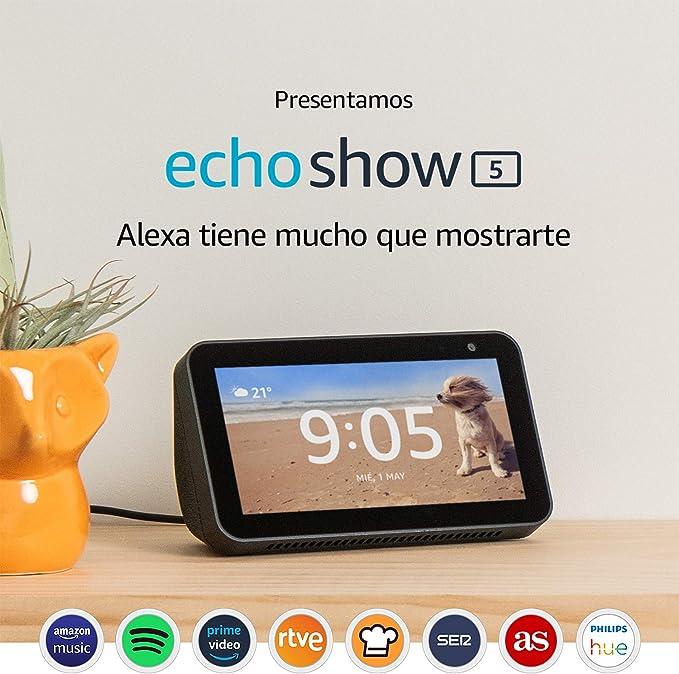 Image ofEcho Show 5 reacondicionado certificado, una pantalla inteligente y compacta con Alexa, negro