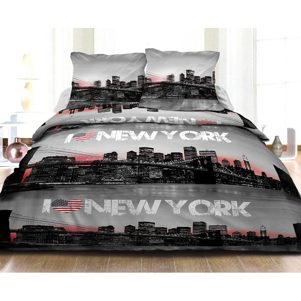 Housse de Couette 240x260cm New York 2 taies 100/% Coton 57 Fils