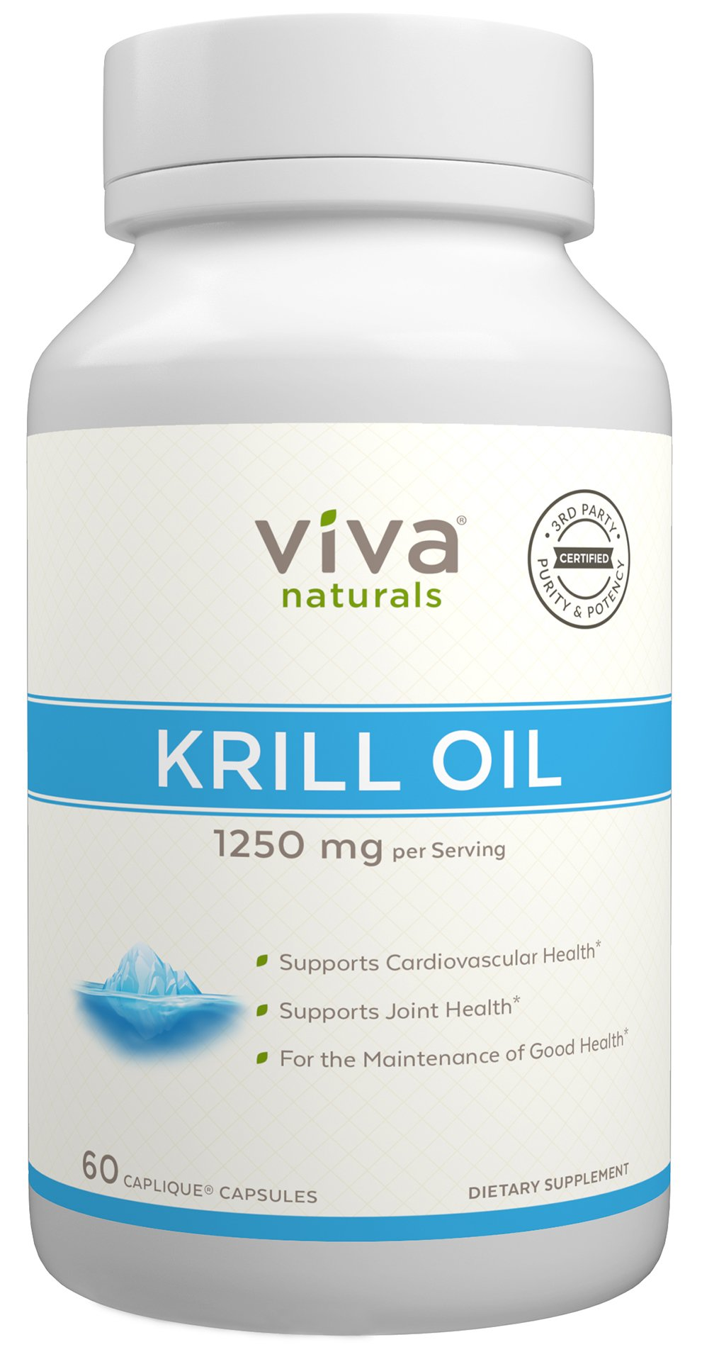 Viva Naturals Krill Oil - 6 Bottles (360 Capliques) by Viva Naturals (Image #1)