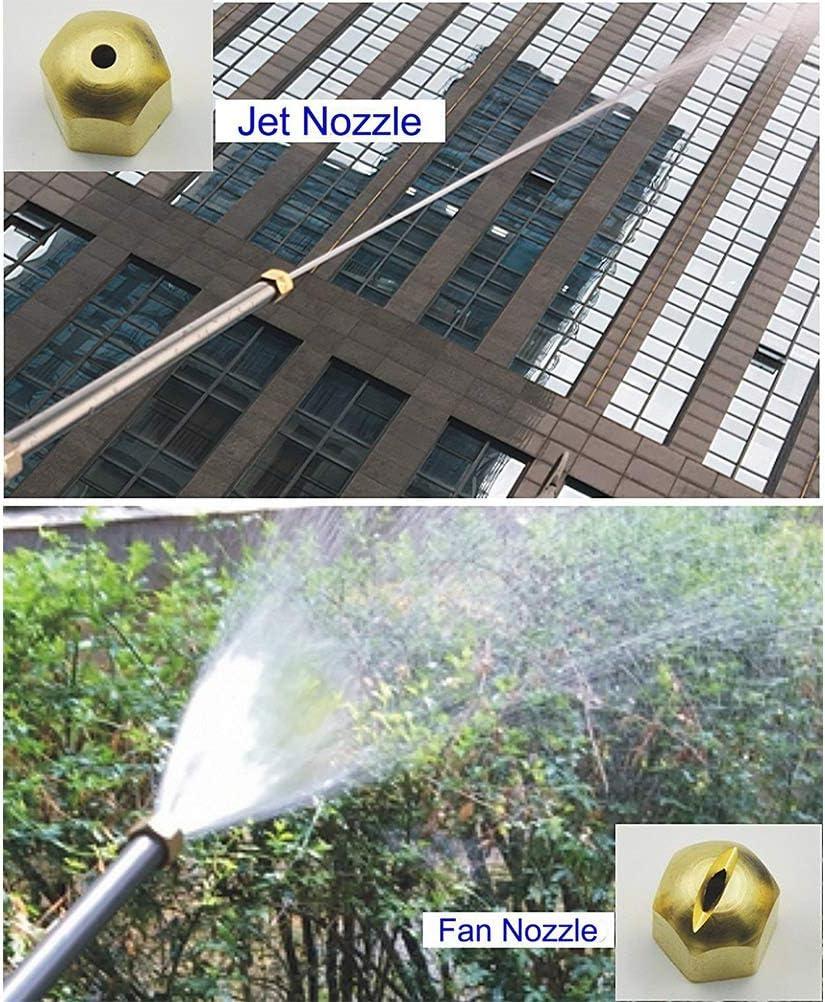 LQKYWNA Hydro Jet Laveuse Baguette Lavage /à Haute Pression Pistolet deau Jardin Pulv/érisateur pour Lavage Et Nettoyage Jardin Voiture