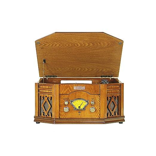 GOM Gramófono, Tocadiscos Grabador de Vinilo 33/45/78 RPM ...
