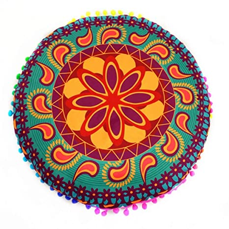 XGBDTJ Indian Mandala Floor Cushion Cojín Casual Redondo ...