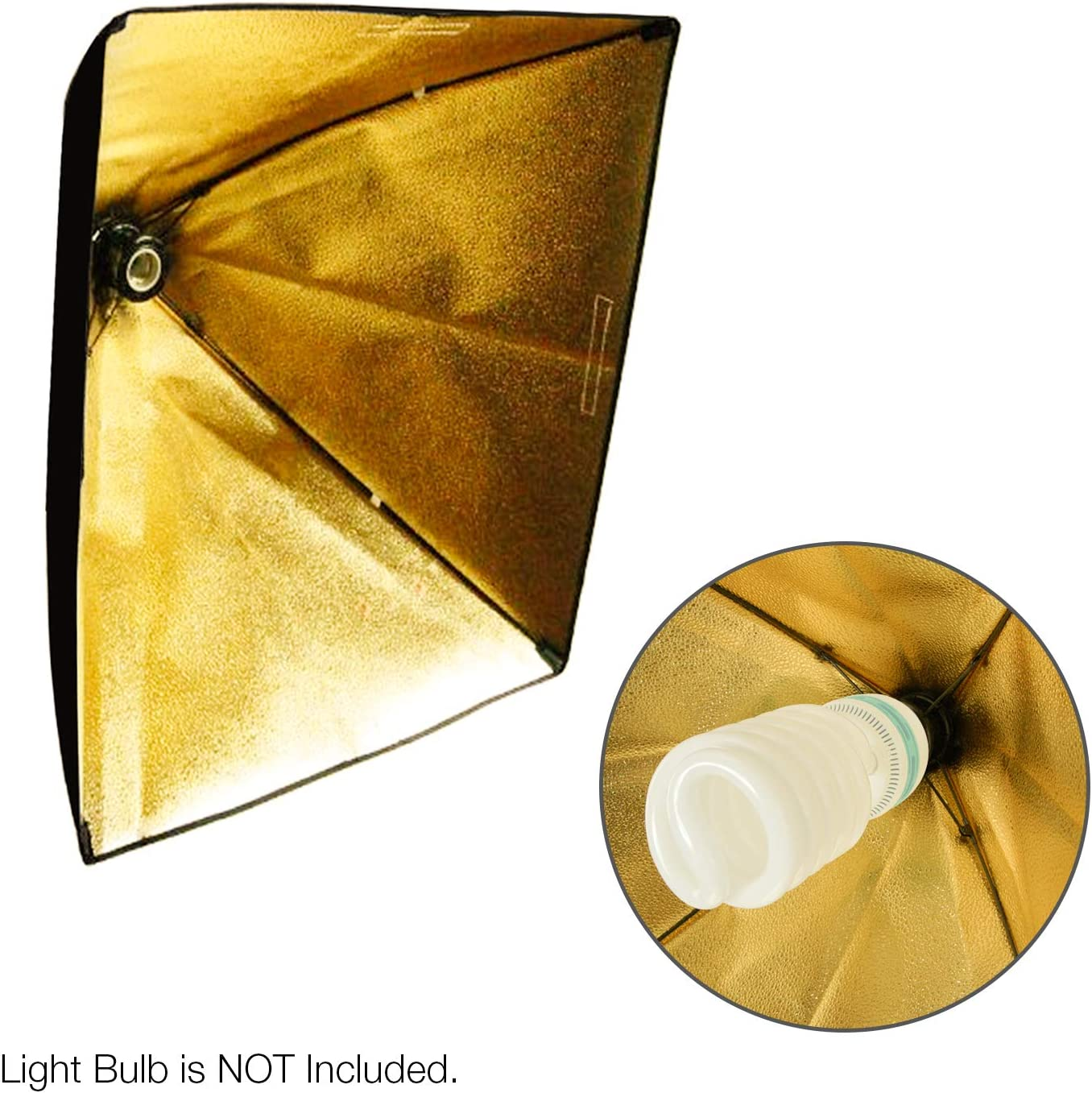 TEMAGG2829 Limo Studio Photography Light Holder with 24 x 16 Gold Softbox Reflector