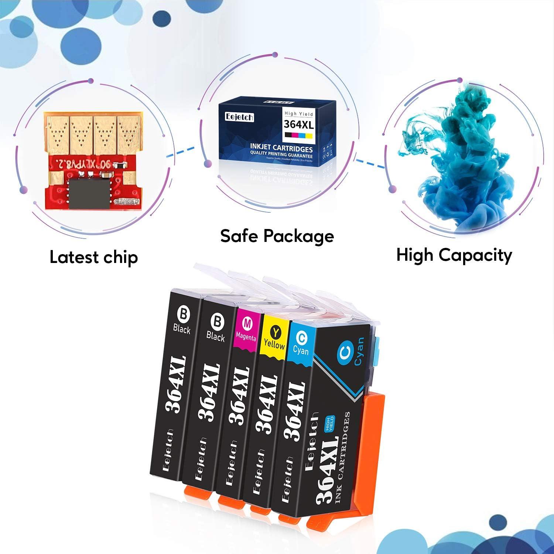 Eejetch Compatible 364XL Cartuchos Reemplazo para HP 364 Cartuchos ...