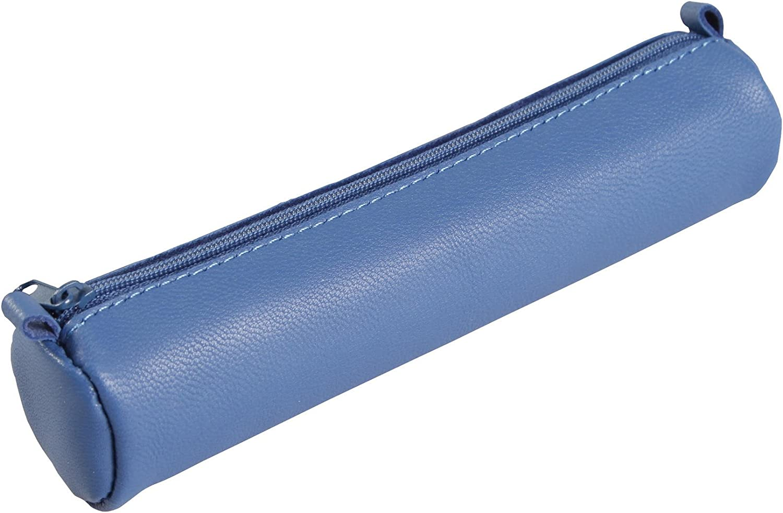 Clairefontaine Schlamperm AgeBag - Estuche Redonda de Piel, 18,5 x Ø 4, Azul: C Rhodia: Amazon.es: Oficina y papelería