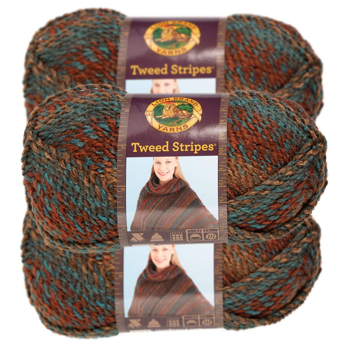 Chunky Yarn Acrylic 100 Percent Soft Yarn for Knitting Crocheting Bulky #5 3 Pack Lion Brand Yarn