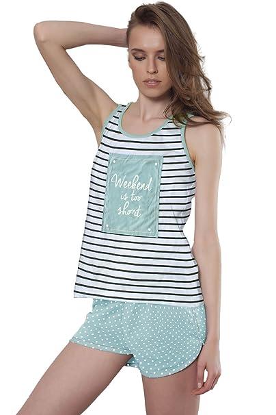 Pijama Tirantes Mujer Admas Weekend, Color Marino, Talla S