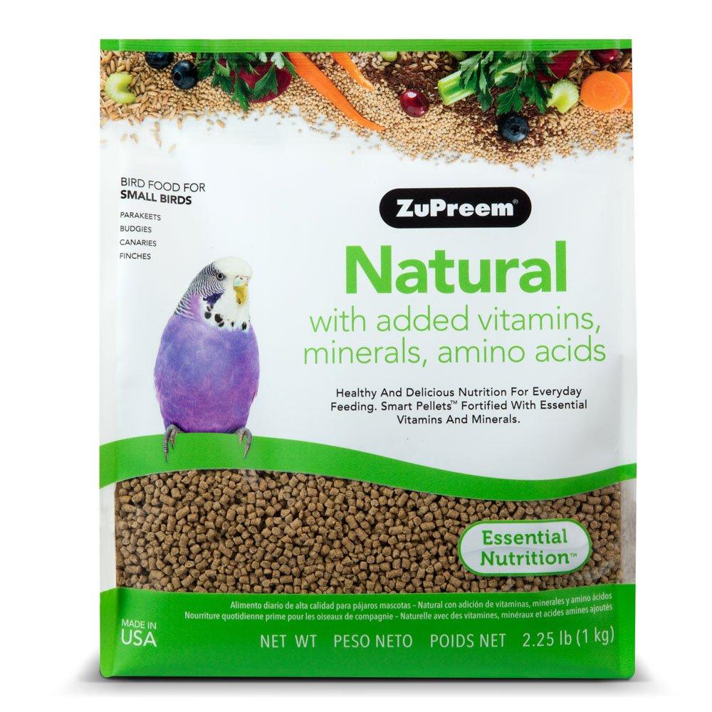 Zupreem Natural con añadido Vitaminas, Minerales, aminoácidos pequeño pájaro Alimentos, 2,25 LB (1 kg): Amazon.es: Productos para mascotas