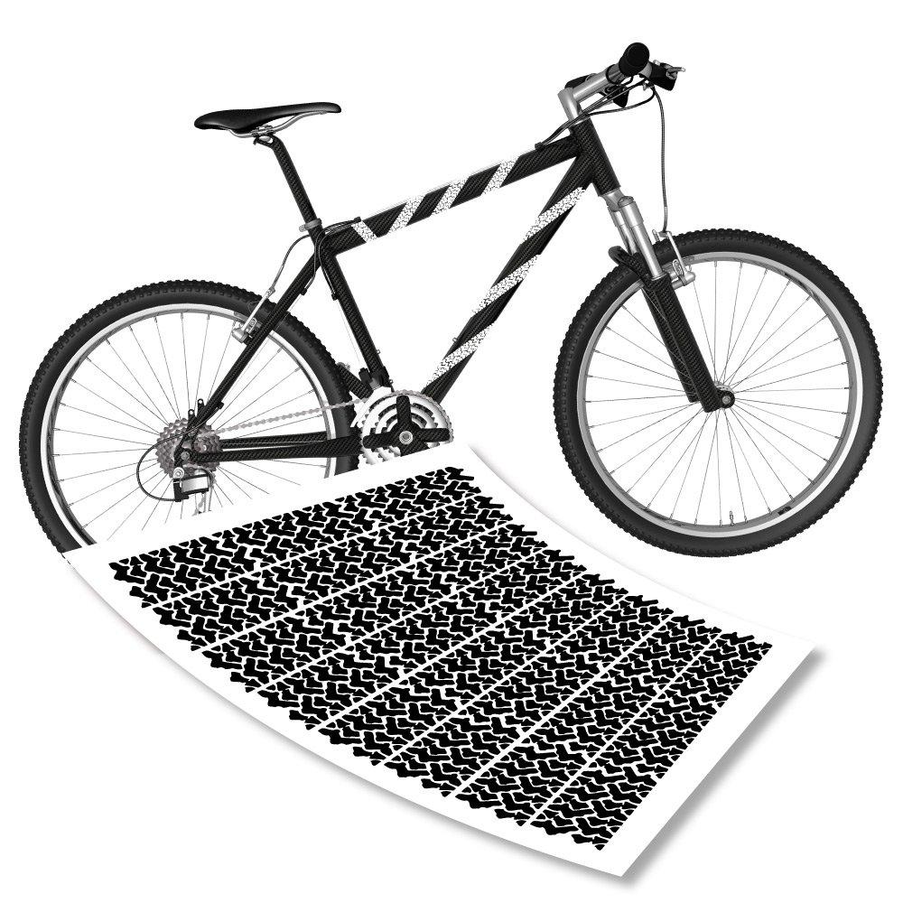 Reifenspuren Aufkleberset für Fahrrad Rahmen Sticker Spuren Bike ...