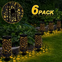 6 Pcs Farol Solar Exterior Jardin, LED Lámpara
