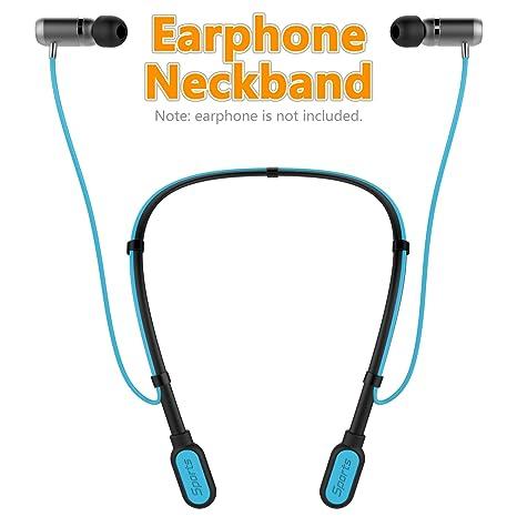 Moretek Auriculares Inalámbricos Bluetooth Neckband, Headphones Deportivos Correr Running Earphones Banda para Cuello Bluetooth iPhone