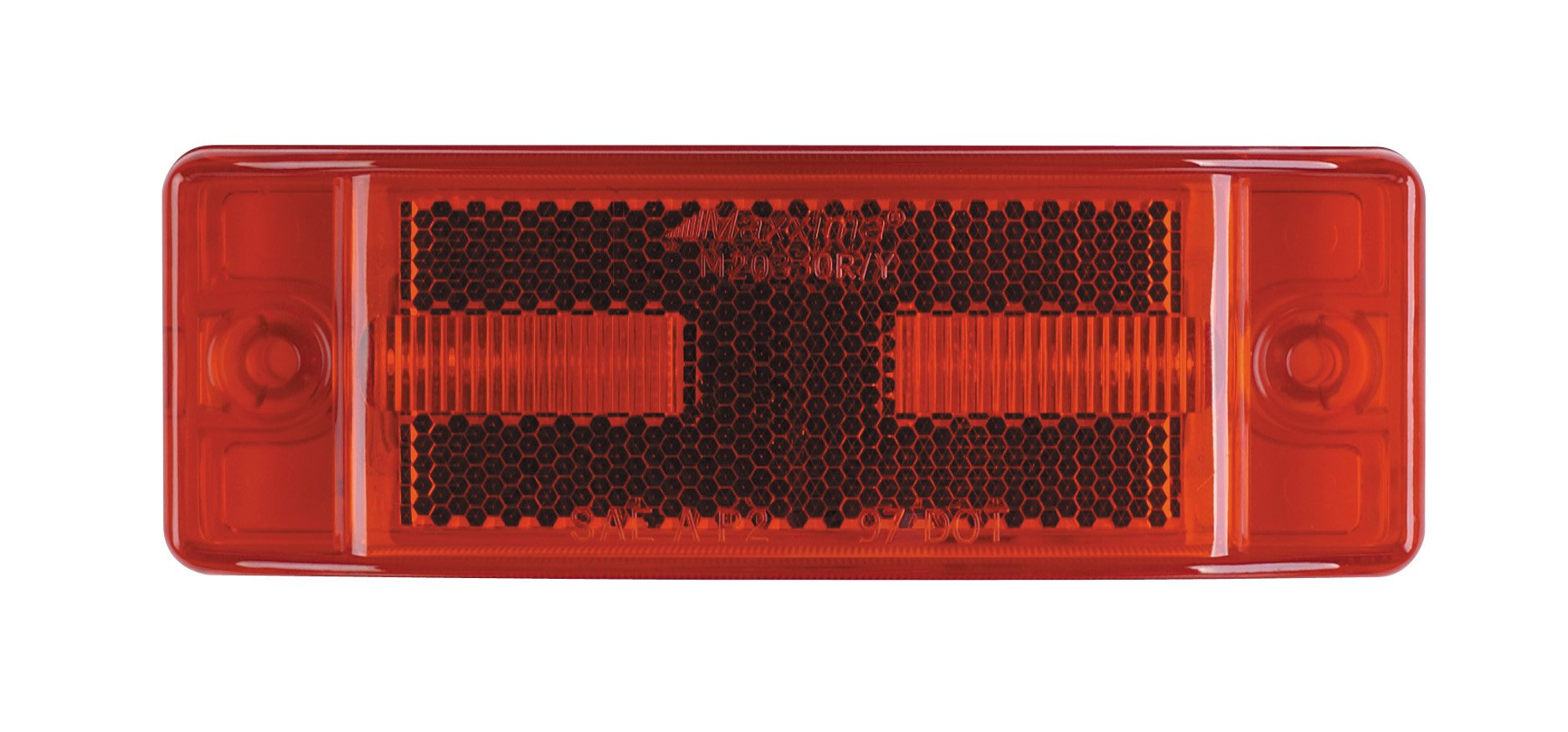 Maxxima M20330R Red 2'' x 6'' LED Clearance Marker/Auxiliary Turn Signal Light with Reflectorized Lens