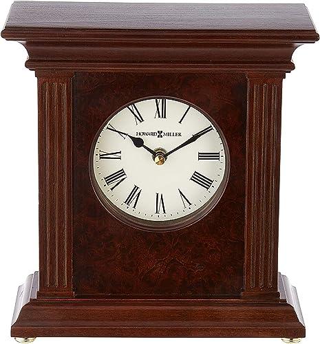Howard Miller Andover Accent Mantel Clock 635-171 Cherry Bordeaux with Quartz Movement