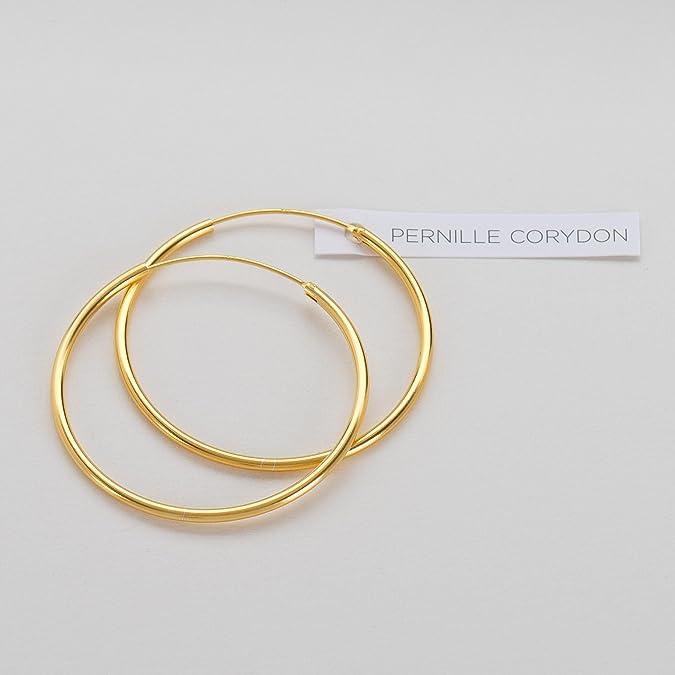 Creolen Damen Gold PERNILLE CORYDON runde Ohrringe 925er Sterling Silber vergoldet E141g