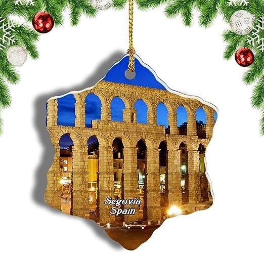 Weekino Acueducto de España Segovia Decoración de Navidad Árbol de ...