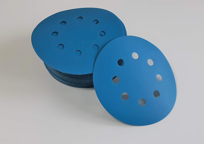 Ottorotante Dischi abrasivi con Velcro 125 mm 8 Fori Grana 1500 levigatura Anche ad Acqua 25 Pezzi