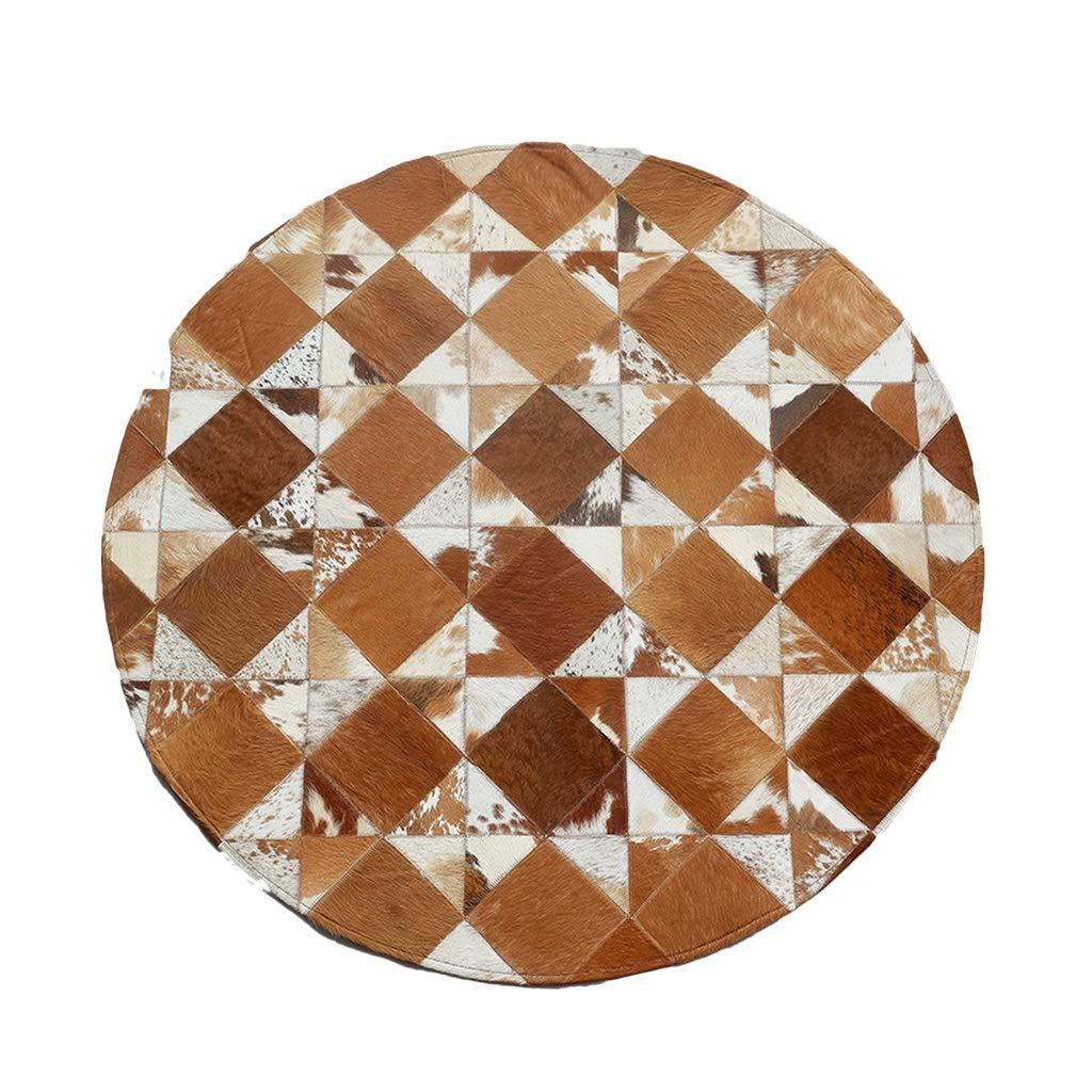 ラグカーペット カーペットラウンドベッドルームラグ ホーム幾何学リビングルームの敷物 ベッドルームベッドサイドラグベイウィンドウクッション ラグカーペット (Color : Brown, Size : 220*220cm) 220*220cm Brown B07K24WTN3