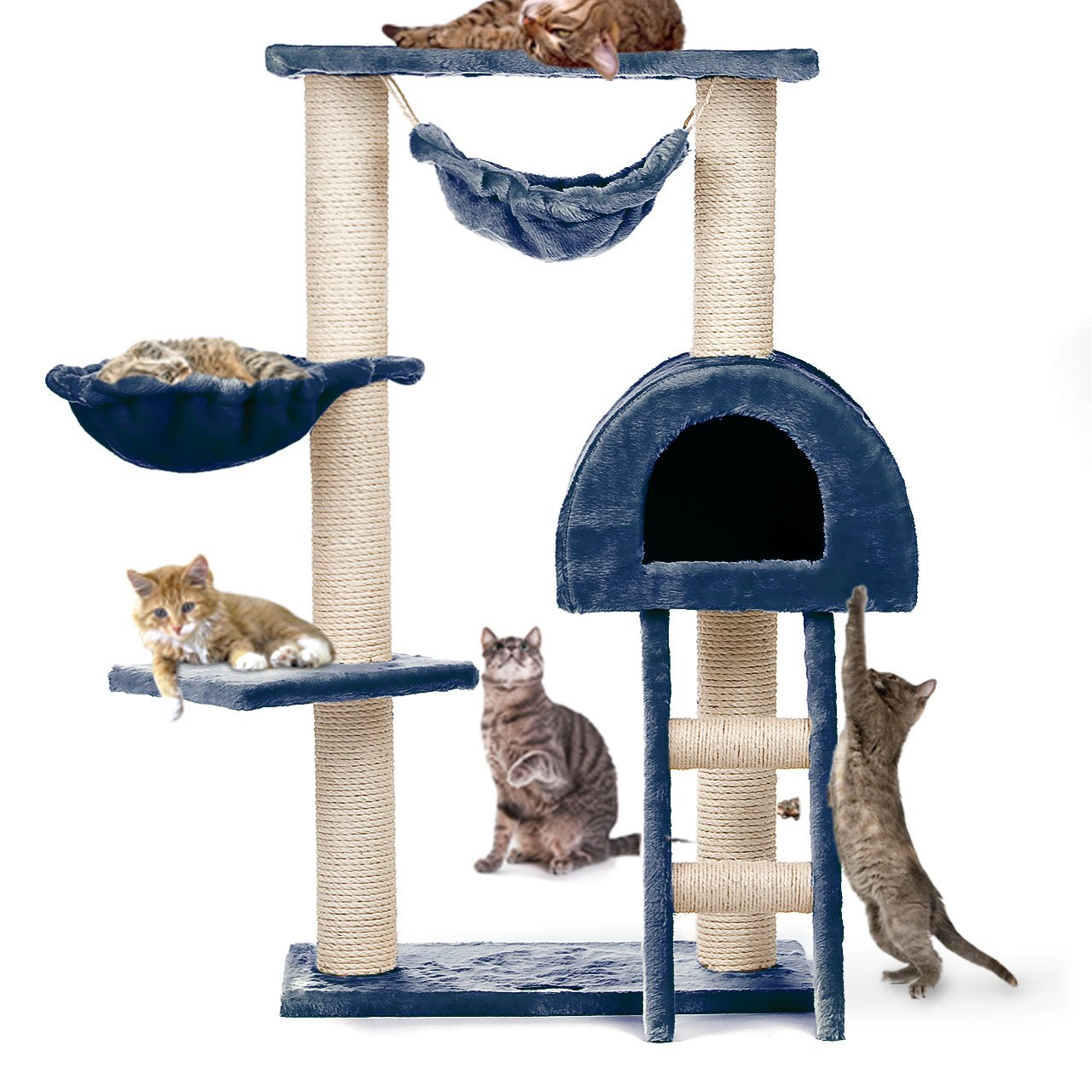 Cat Tree Condo With 2 Hammocks