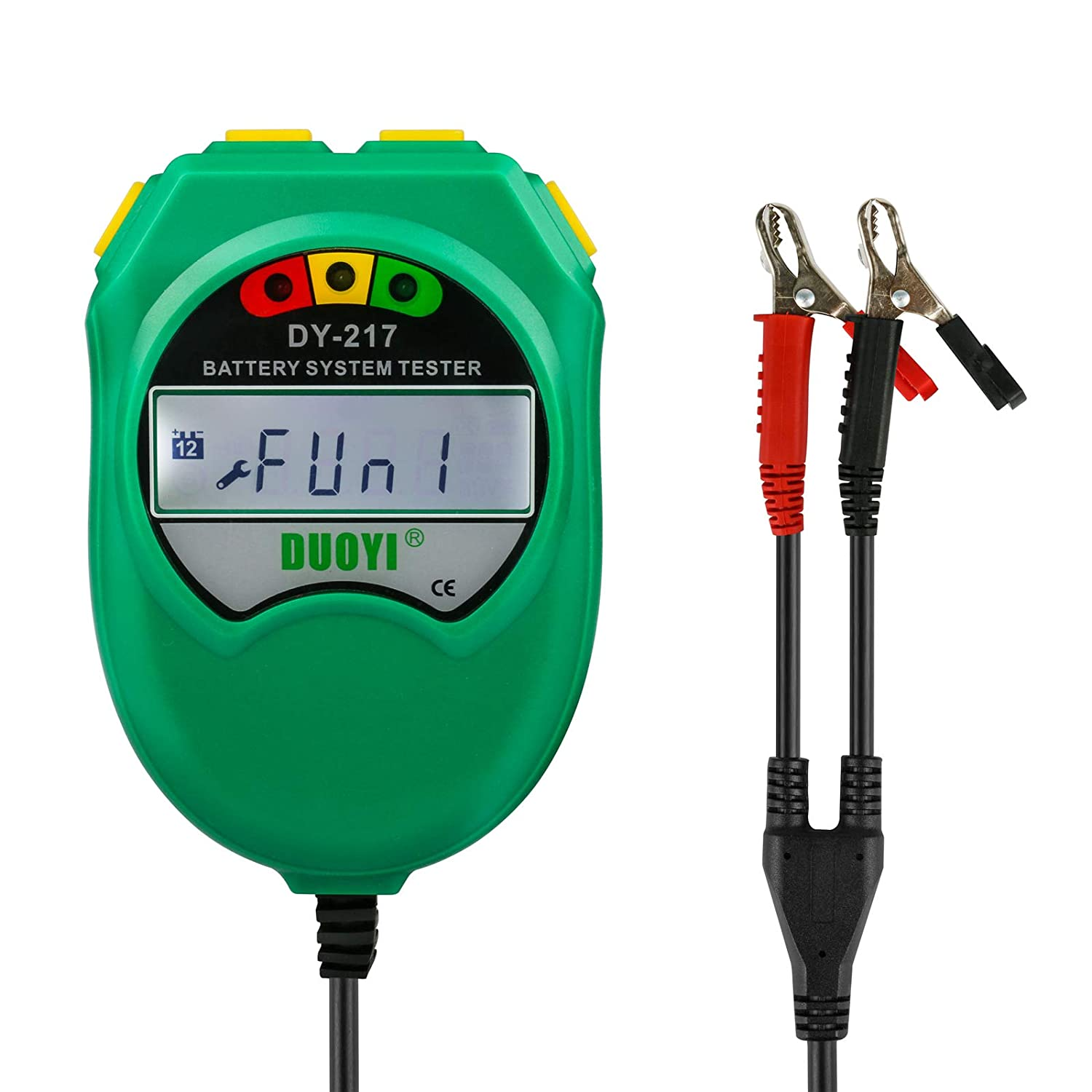 Mrcartool Automotive Battery Tester 6V and 12V DC 4-Wires Resistance Test for UPS Battery Marine Battery Solar Energy Storage Battery
