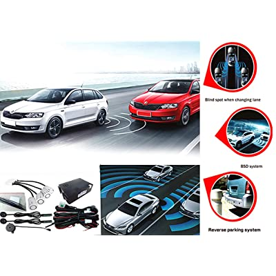 CarBest Ultrasonic Blind Spot Detection System BSD Change Lane Safer BSA BSM Blind Spot Monitoring Assistant Car Driving Security with Reverse Parking System: Car Electronics