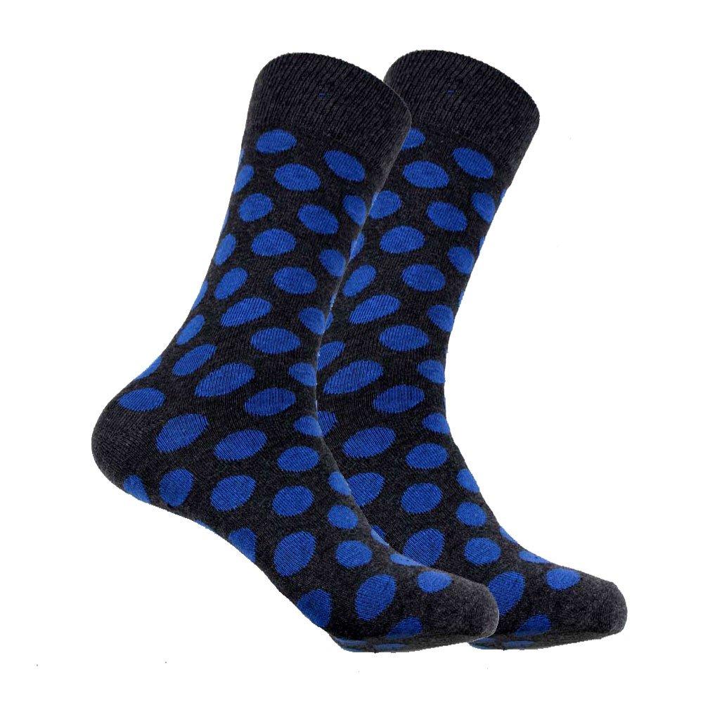 Mens Designer Sock Blue Black