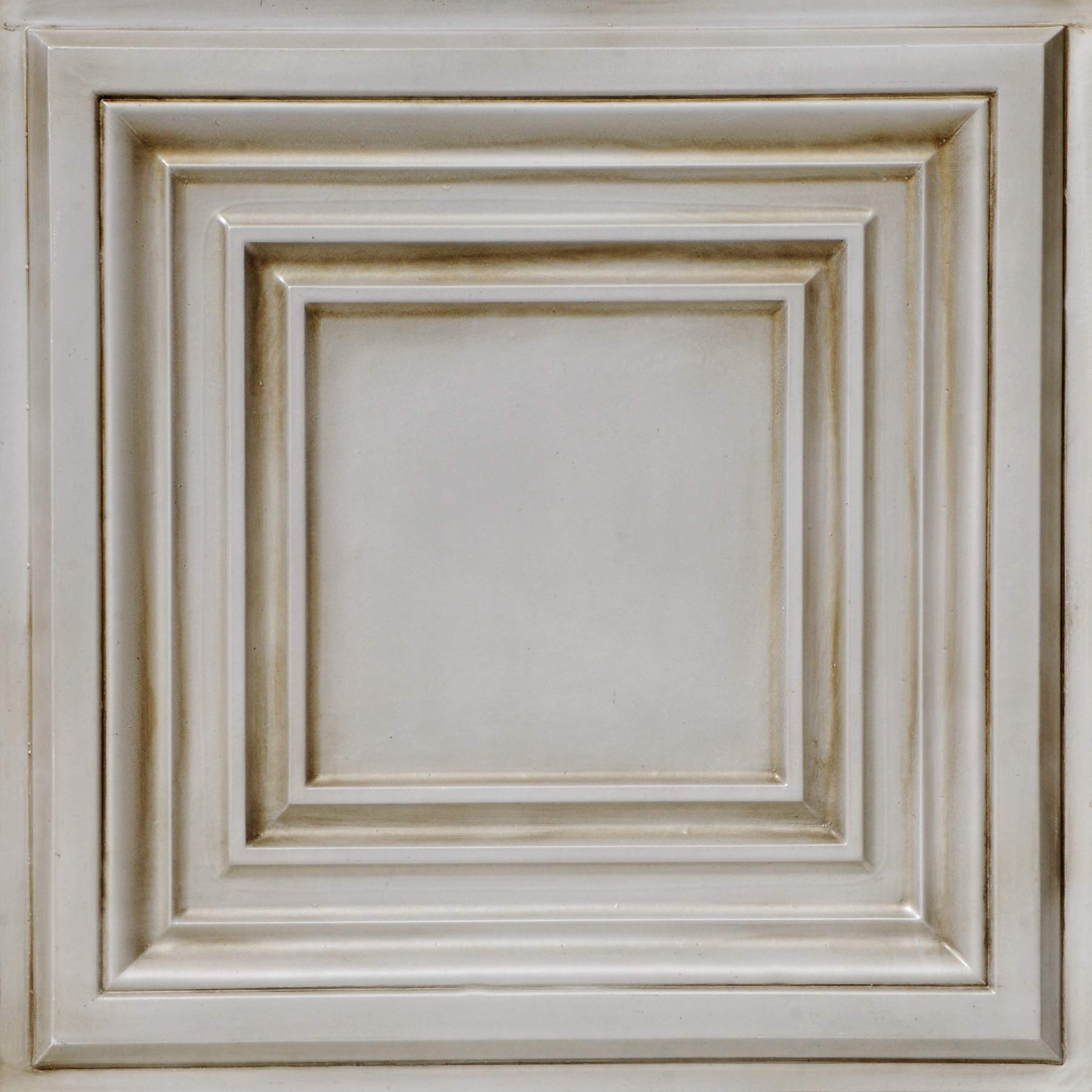 From Plain To Beautiful In Hours DCT05aw-24x24-25 Washington Square Ceiling Tile Antique White 25