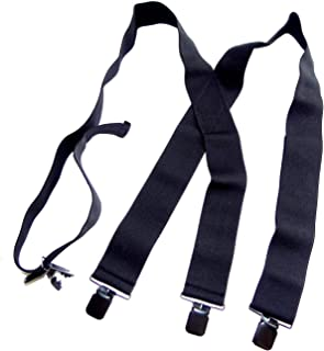 """product image for Holdup Brand 2"""" Wide Black Undergarment Hidden Suspenders with/Patented Black No-slip Clips"""