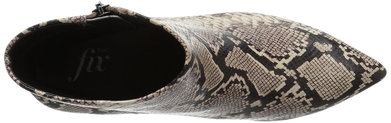 The Fix Women's Kenzee Kitten Heel Bootie Ankle Boot B074JNN7CF 9 B(M) US|Mushroom Python Print