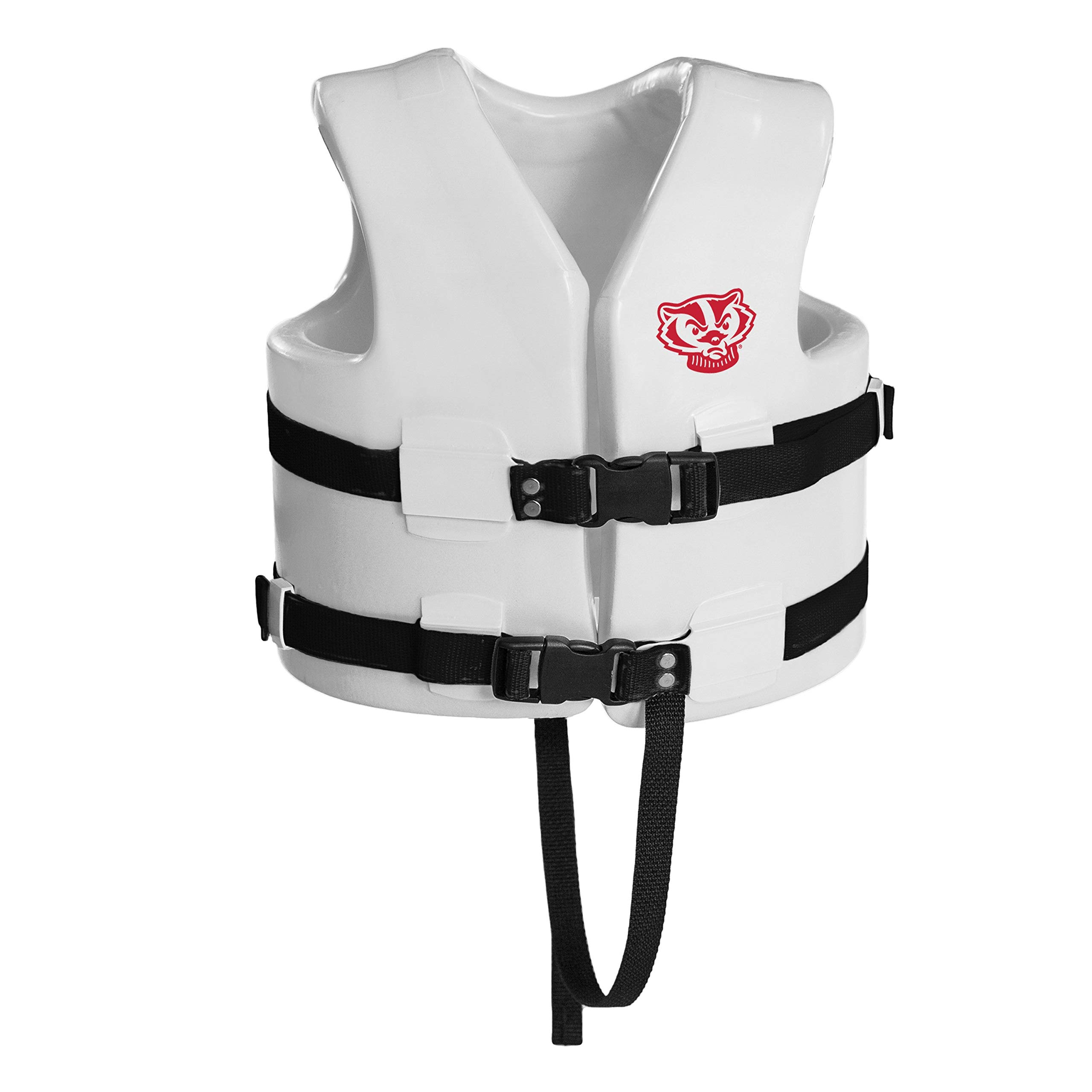 Texas Recreation Corporation Texas Rec USCG Approved Child Water Vest White Finish Wisconsin Badgers X-Small Chest 21-23