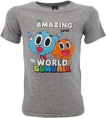 Gumball Camiseta original The Amazing World of Camiseta oficial gris