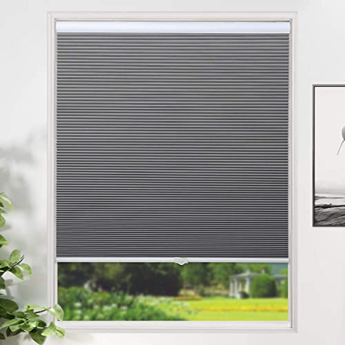 SUNFREE Cellular Shades Blackout Blinds Cordless Honeycomb Window Shade
