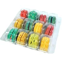 Vend Exchange Clear Plastic Macaron Containers - Fits 12 Macarons (Pack of 14)
