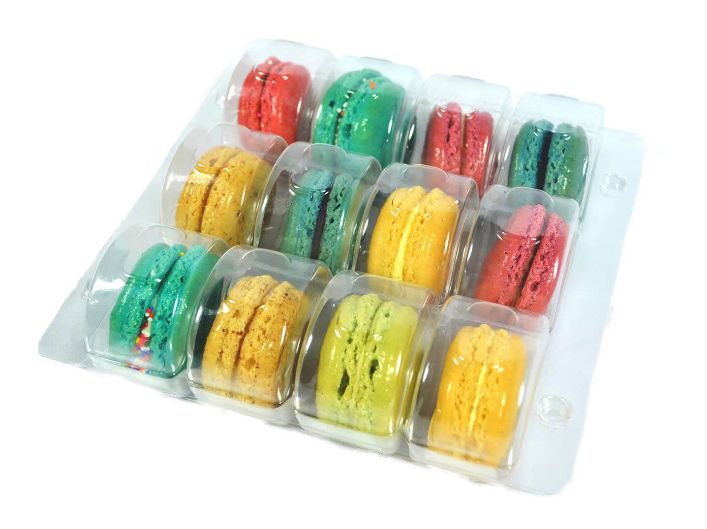 Vend Exchange Clear Plastic Macaron Containers - Fits 12 Macarons (Pack of 12)